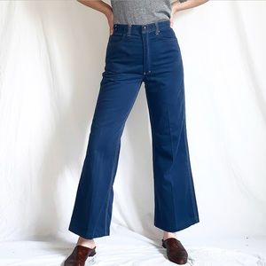 "Vintage 1970s ""Red Snap"" Bell Bottom Jeans"